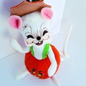 Retired 2013 Annalee Trick or Treat Halloween Pumpkin Mouse NWT